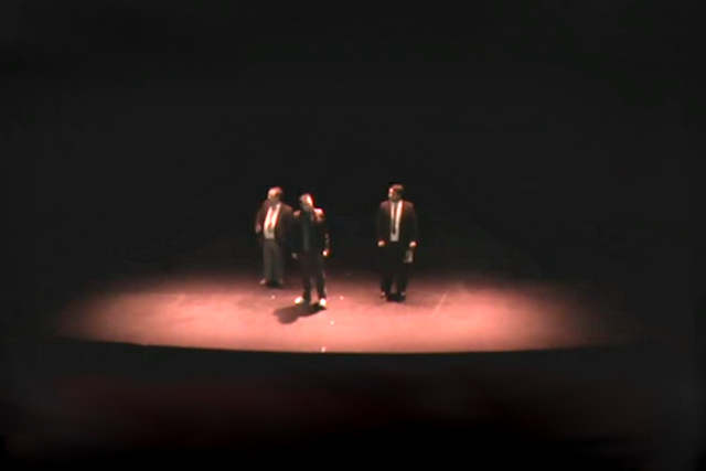 The Fringe Files at the 2013 Woking Drama Festival, performing Underline