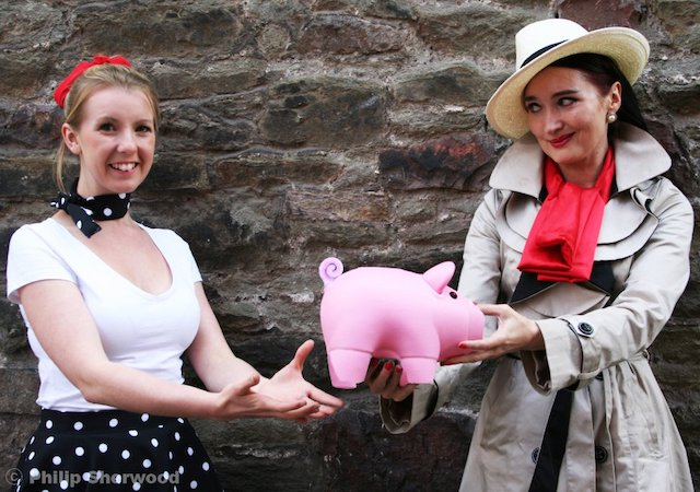 Publicity photo for The Fringe Files 2011 stage production, The Curse of Miss Fortune