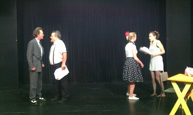 The Fringe Files rehearse The Curse of Miss Fortune at The Backwell Playhouse, Bristol