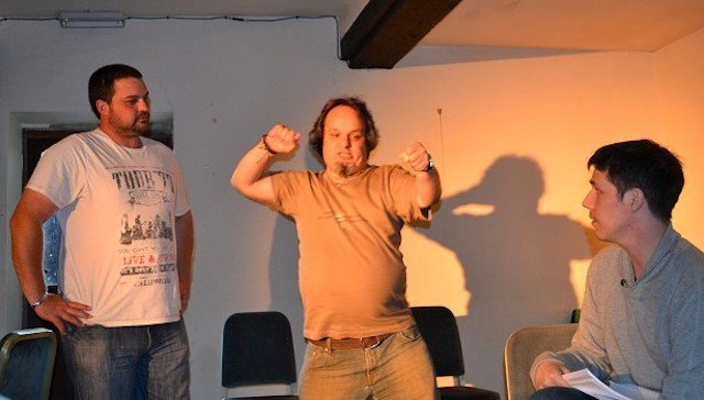 The Fringe Files rehearsing The Cook Did It on 05 August 2012