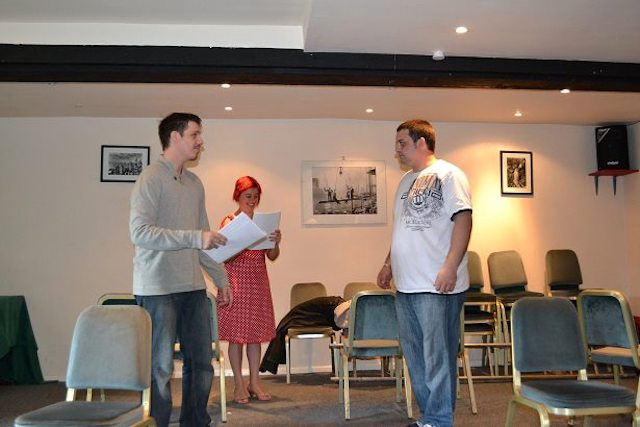 The Fringe Files rehearsing The Cook Did It on the 12 August 2012