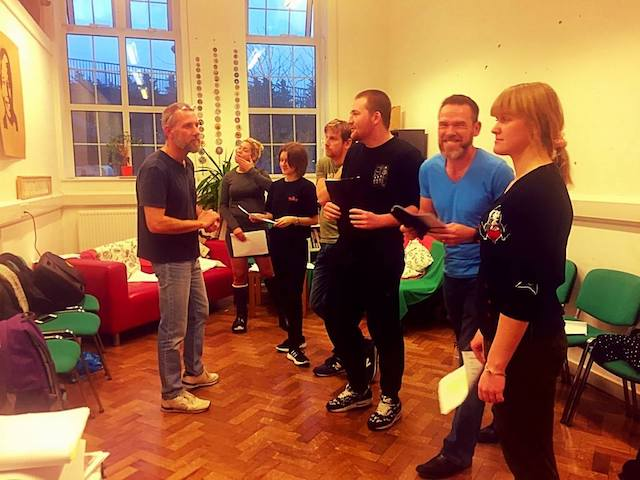 Rehearsal photo for Christmas Evie the Panto dated 20th November 2016