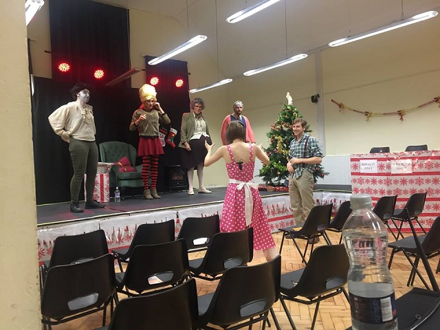 Technical rehearsal for 2016 production Christmas Evie the Panto by The Fringe Files