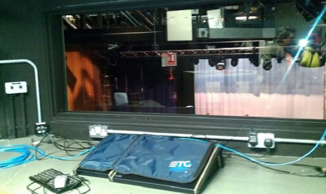 The Fringe Files at the Woking Drama Festival technical rehearsal. 8th September 2012