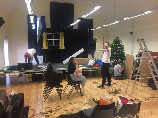 Technical and Set Build for Christmas Evie the Panto